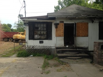 This home on Kennedy Street was demolished by the City of Mobile on Thursday after decades of drug activity.