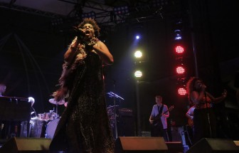 Macy Gray performing with Galactic was among the Hangout Fest highlights.