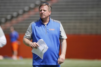 Jim McElwain during spring training at the University of Florida.
