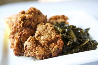 """Chef Gillian Clark, a recent hire at Kitchen on George, won a winner-take-all fried chicken challenge on the Food Network's """"Throwdown with Bobby Flay."""" The recipe is featured on the Oakleigh restaurant's lunch menu."""