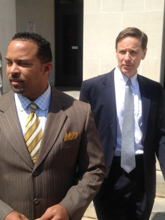 United States Attorney Kenyen Brown and Assistant U.S. Attorney Greg Bordenkircher take questions from the media.