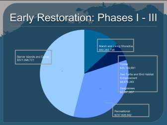 A break down of Natural Resource Damage Assessment that have been funded since the 2010 Deepwater Horizon Oil Spill.