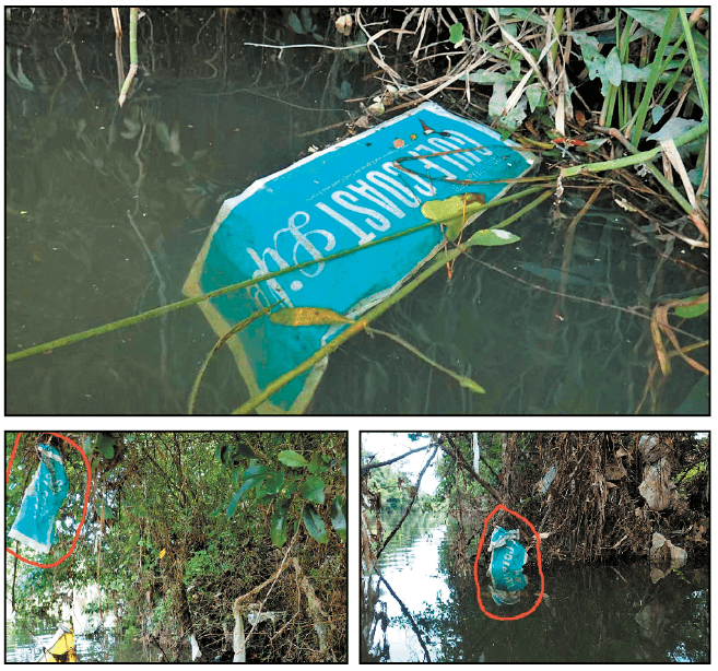 Rob Nykvist, who has crusaded for keeping area waterways clear of litter, has documented several instances of Press-Register ad circular bags making their way into creeks and rivers.