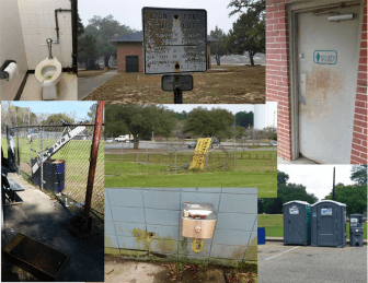 These are some of the photos Mobile Mayor Sandy Stimpson has been releasing of delapidated parks thoughout the city.