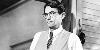 "Gregory Peck portrays Atticus Finch in the 1962 film adaptation of ""To Kill A Mockingbird."""