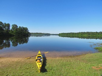 A boat launch at Big Creek Lake in Mobile County.