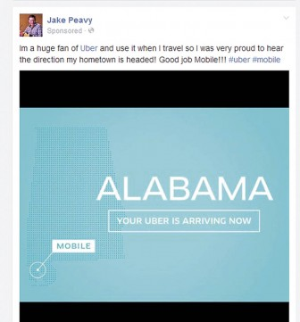 Turns out ace pitcher Jake Peavy is a big Uber fan and took to the web to support the service coming here.
