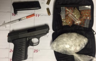 A firearm and drugs collected by the Fairhope Police Department during an Aug. 6 arrest.