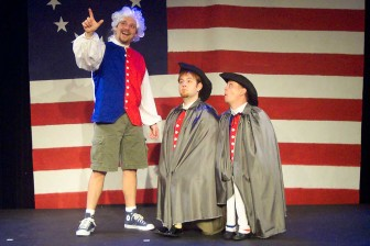 "(Photo/ jobsitetheater.org) ""The Complete History of America (Abridged)"" is a madcap ""new vaudeville"" play featuring a cast of three."