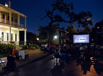 (Photo/ facebook.com/hurricanefilmfestival) The Hurricane Film Festival, previously known as the SoAL Film Festival, will return in September. Here, attendees watch a selection in Fort Conde Village.