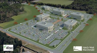 An artist's rendering of the proposed Daphne Innovation and Science Complex at the corner of State Highway 181 and Champions Way in Daphne.