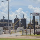 One of Arc Terminals' storage tank facilities on the eastern bank of the Mobile River. | Gabe Tynes/Lagniappe