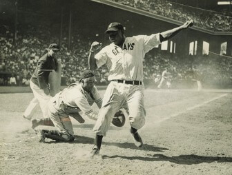 (Photo/Submitted) Ted Radcliffe (center) tags out Josh Gibson.