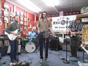 (Photo/ facebook.com/mobilerecords) Willie and the Giant perform at Mobile Records Aug. 15.