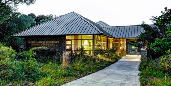 (Photo/ University of South Alabama) Exhibits at the USA Archaeology Museum begin on the exterior, landscaped by natural Gulf Coast habitats.