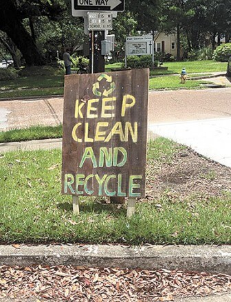 (Photo/Keep Mobile Beautiful) Recyclers in Mobile usually have to drop off material at recycling centers.