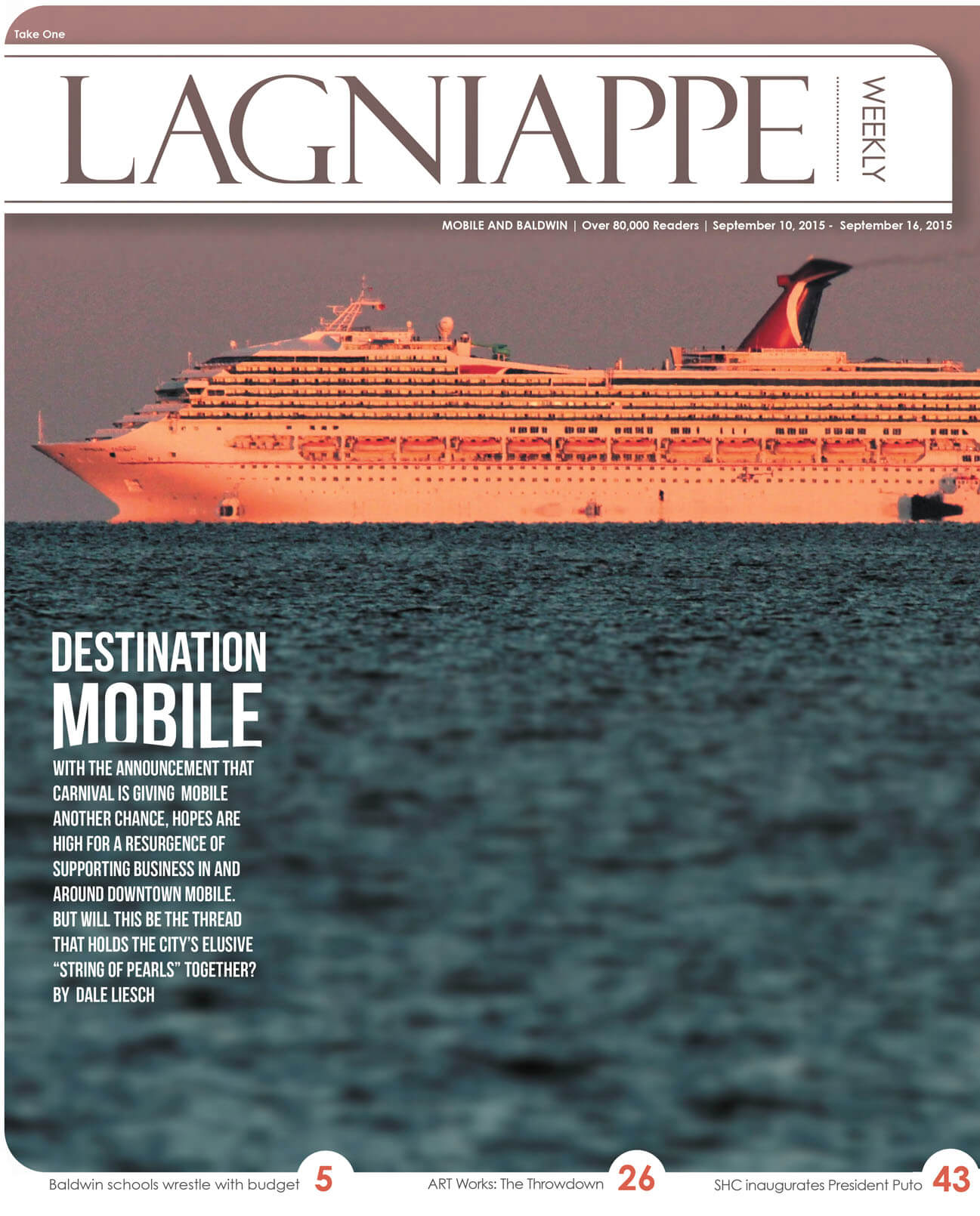 COVER STORY: Contract negotiations for a new cruise ship nearly finalized