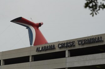 (Photo/Lagniappe) The city still owes about $19 million on the Alabama Cruise Terminal, opened in 2004 but absent of regular cruise ship passengers since 2011. The city hopes parking fees, along with other revenue opportunities associated with a new contract with Carnival Cruise Lines pays down some of the debt.