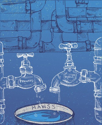 (Illustration/Laura Rasmussen) MAWSS considered a takeover of the Prichard Water System last year, but ultimately balked because of an expensive management contract.