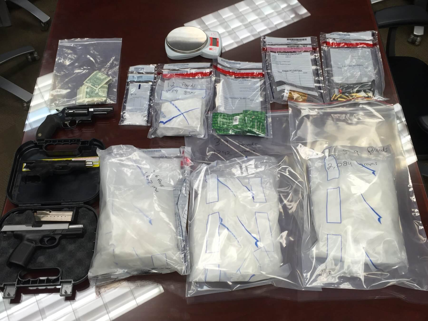 Police recover pounds of meth, heroin in Chickasaw