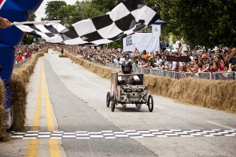 (Photos/ Courtesy Scrimshaw PR) Red Bull's Soapbox Race is a national event for amateur drivers racing homemade soapbox vehicles. Local bar O'Daly's is sponsoring a team at Saturday's race in Atlanta.