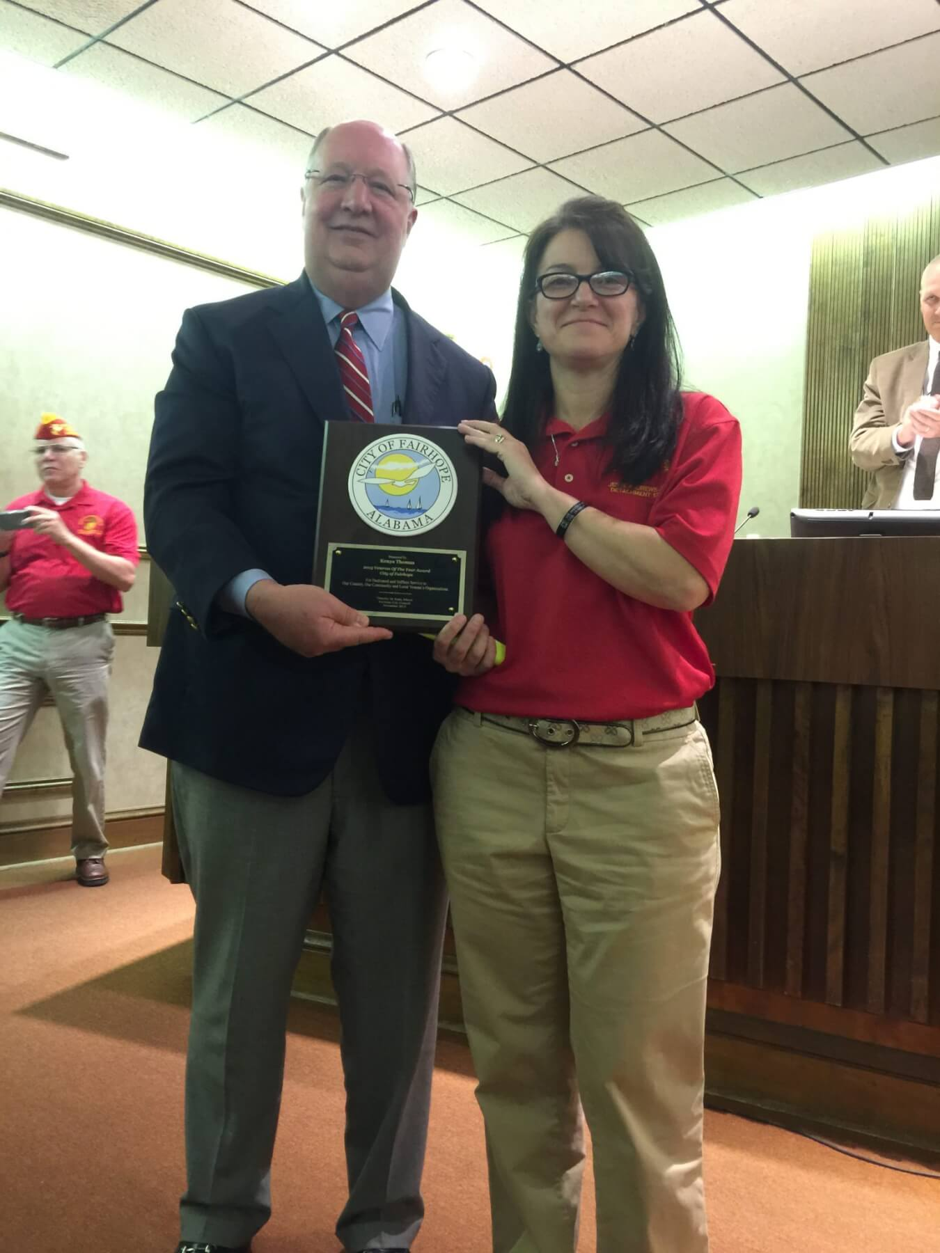 Kenya Thomas named Fairhope Veteran of the Year