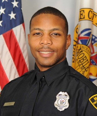 """Joshua Jones was named the Mobile Police Department's """"Officer of the Month"""" for October 2015."""