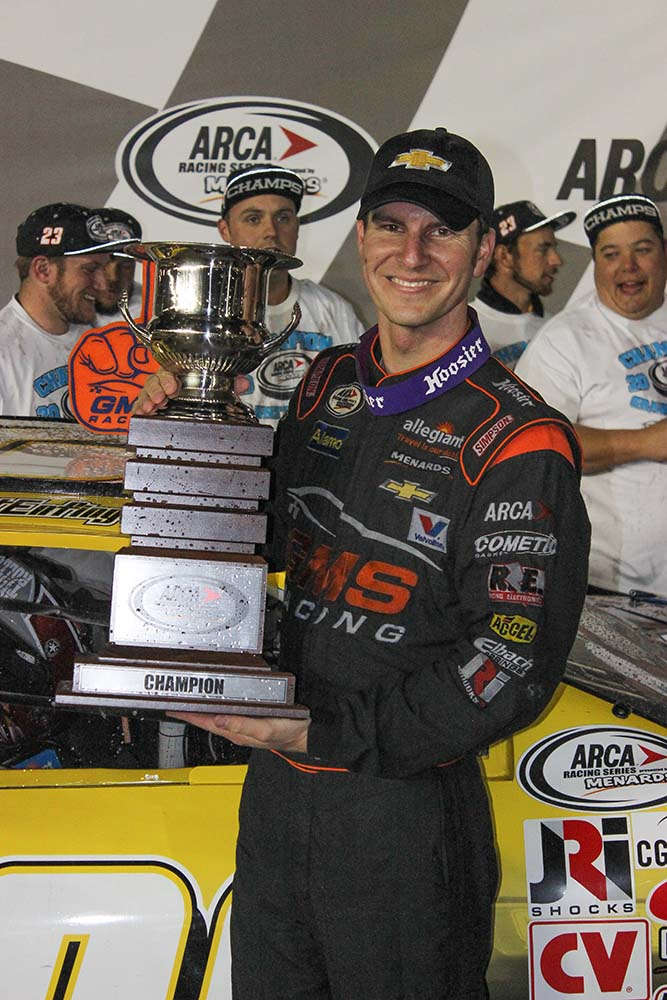 Enfinger brings home ARCA trophy