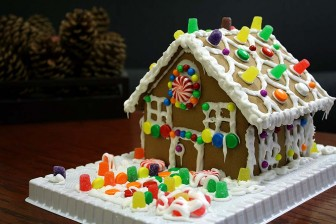 (Photo/ Wikipedia) Until you've gained experience, keep gingerbread houses simple.