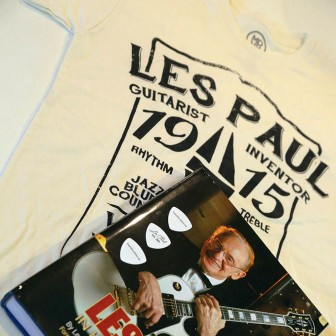 (Photo/ Les Paul Foundation) A $100 Les Paul gift pack includes a coffee-table book, T-shirt and commemorative guitar picks.