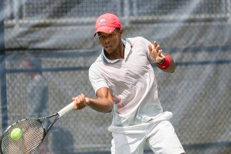(Photo/ Courtesy of University of South Alabama) USA junior Tuki Jacobs, a native of Namibia, recently represented his country in the Davis Cup in Cairo, Egypt.