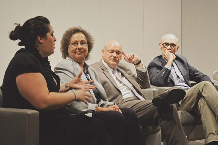 (Courtesy ACAC) Alabama Contemporary Art Center Executive Director Bob Sain (far right) participates in a round table with media professionals during the Futures Project in 2013.