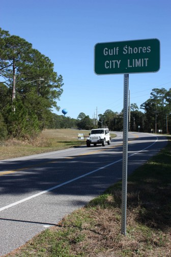 (Photo/ Robert DeWitt/Lagniappe) A lawsuit that lasted years and cost thousands of dollars pushed the Gulf Shores City Limits back along Alabama Highway 180 (Fort Morgan Road). Some Fort Morgan area residents are seeking to incorporate in order to block any further moves by Gulf Shores. Ultimately, they hope to prevent high-density development in the Fort Morgan area.