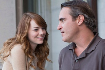 "(Photo | Gravier Productions/) Emma Stone fails to support Joaquin Phoenix's dynamic portrayal of a notable but conflicted philosophy professor in Woody Allen's ""Irrational Man."""