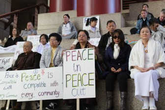 Supporters of the Meditation Center of Alabama held a silent protest ahead of a Mobile City Council decision Tuesday to uphold the Planning Commission's denial of a new facility in a residential district.