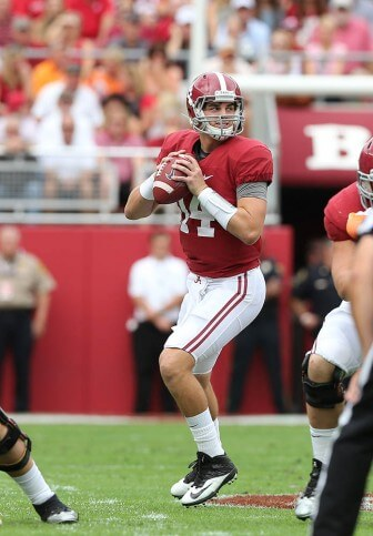 (Photo courtesy of the University of Alabama) Crimson tide starter and Mobile native  jake coker is among the quarterbacks invited to the 2016 Senior Bowl Jan. 30.