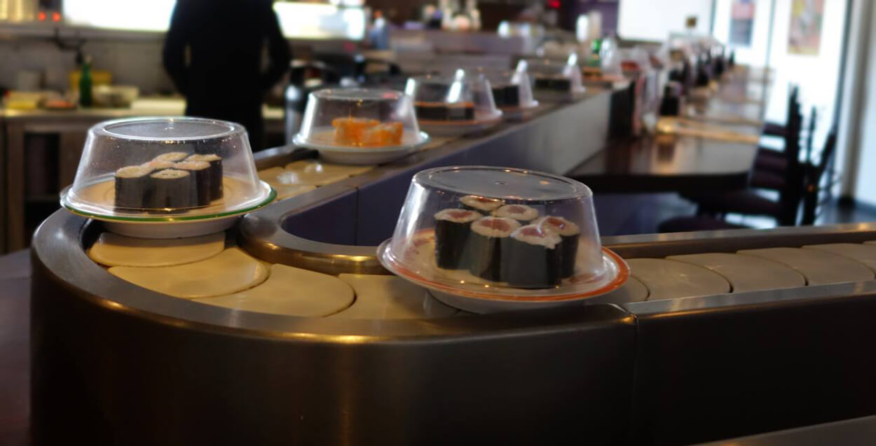 Happy Sushi revolving at Bel Air