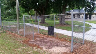 The dugouts as they appear currently at Theodore Park