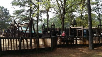This is the current playground at Medal of Honor Park.