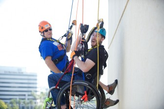 """(Photo   Courtesy of D'Avello Photography) The """"Over The Edge"""" rapelling event on Saturday, March 5 will benefit Mobile Arc, St. Mary's Home, Woody's Song, McKemie Place, The Ronald McDonald House Charities of Mobile, The Exchange Club and the Abba Shrine Children's Transportation Fund."""