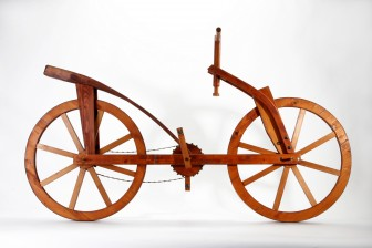 (Photos | Artisans of Florence) Da vinci's bicycle and armored military vehicle were never built in his lifetime, but are reflected in today's technology.