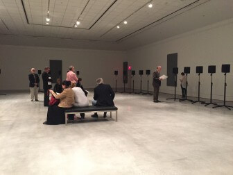 "(Photos | Kevin Lee/Lagniappe) An audio exhibit at the Mobile Museum of Art immerses visitors in Janet Cardiff's ""The Forty Part Motet,"" a 40-part choral performance of English composer Thomas Tallis' 16th-century composition ""Spem in Alium,"" sung by the Salisbury Cathedral Choir."