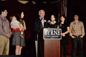 (Lagniappe) U.S. Congressman Bradley Byrne delivers a victory speech after winning re-election to Alabama's 1st Congressional District March 1.