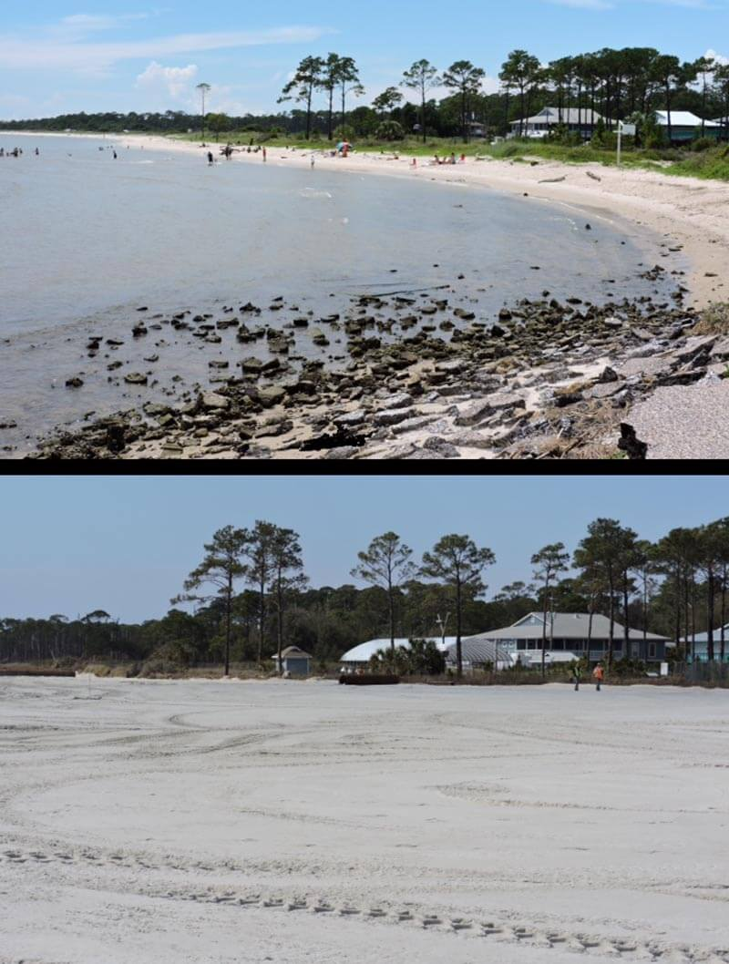 Dauphin Island east end beach nourishment complete