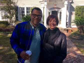 "(Photos | Courtesy of Jana Simpson / youtube.com) Jana Simpson poses with comedian Jordan Peele, who used her Ashland Place home in Mobile for his yet-to-be-released movie ""Get Out."""