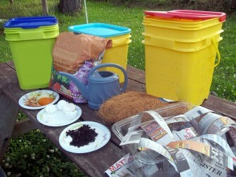 (Photo | Courtesy of Alabama Cooperative Extension Service) Building a functional and productive worm garden takes little more than a couple of pieces of Tupperware, strips of recycled paper, a soil medium and food scraps.