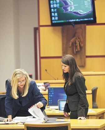 (Daniel Anderson/Lagniappe) Mobile County District Attorney Ashley Rich and Assistant District Attorney Tandice Hogan at the sentencing of capital murder defendant Thomas Lane.
