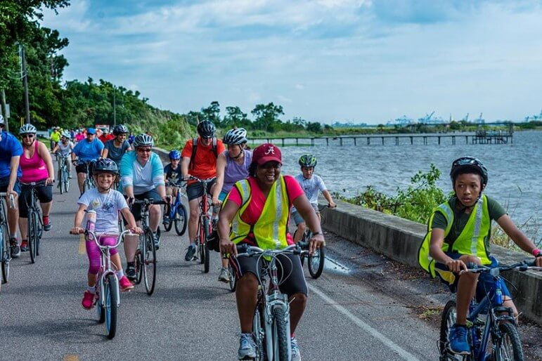 (Photo courtesy of Ira Bates Photography)  The Crepe Myrtle Trail Ride along the western shore of Mobile Bay will provide a preview of the proposed Mobile Greenway Initiative.