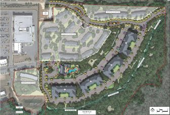 Plans for the Retreat at Fairhope Village, to be developed behind the Publix-anchored Shoppes at Fairhope Village.