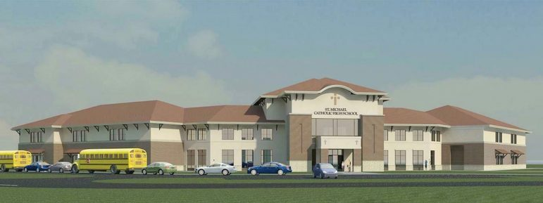 (Photo | Courtesy of the Archdiocese of Mobile) An artist's rendering of the new st. Michael's catholic high school in Fairhope.